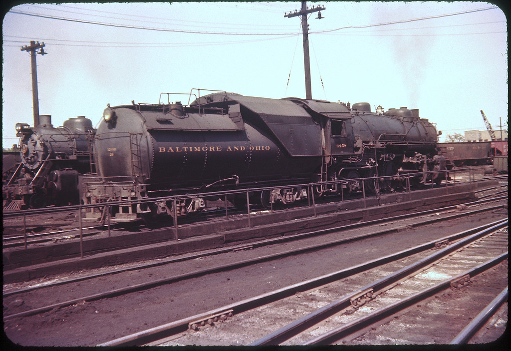 1956 photo<br /> Baltimore & Ohio Railroad<br /> 2-8-2