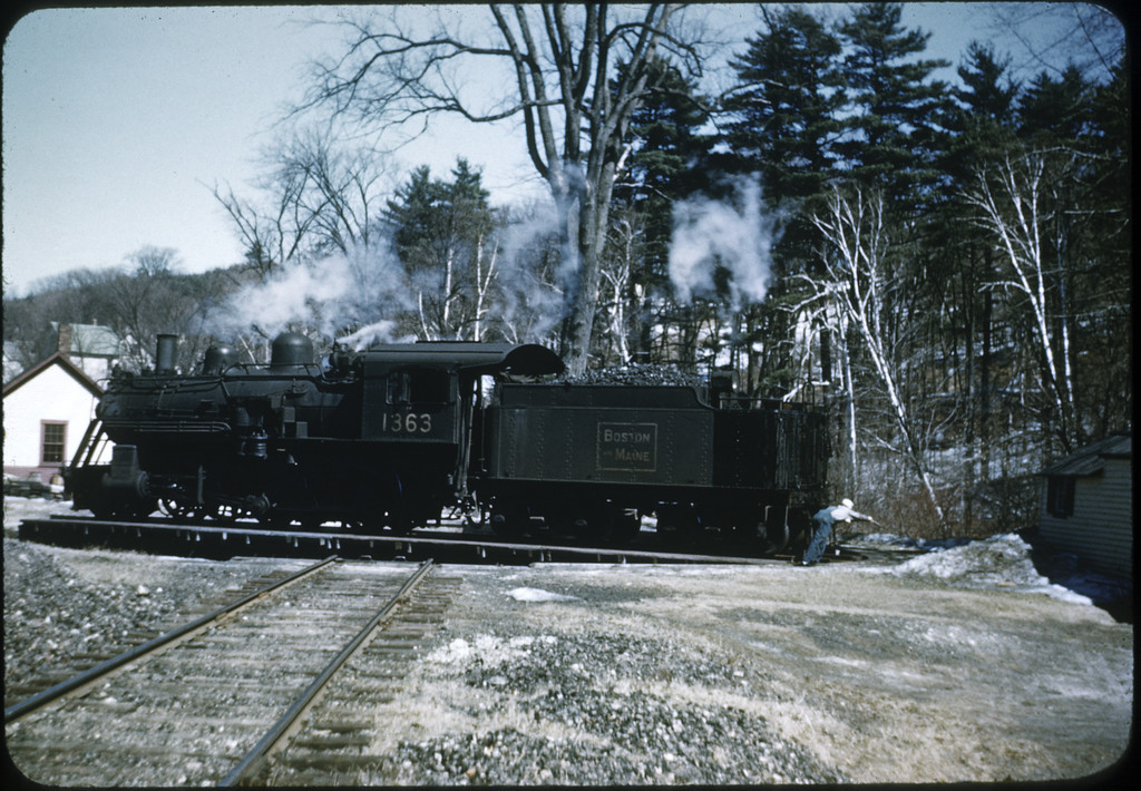 Boston & Maine RR #1363 2-6-0 January 1948<br /> Peterboro, NH
