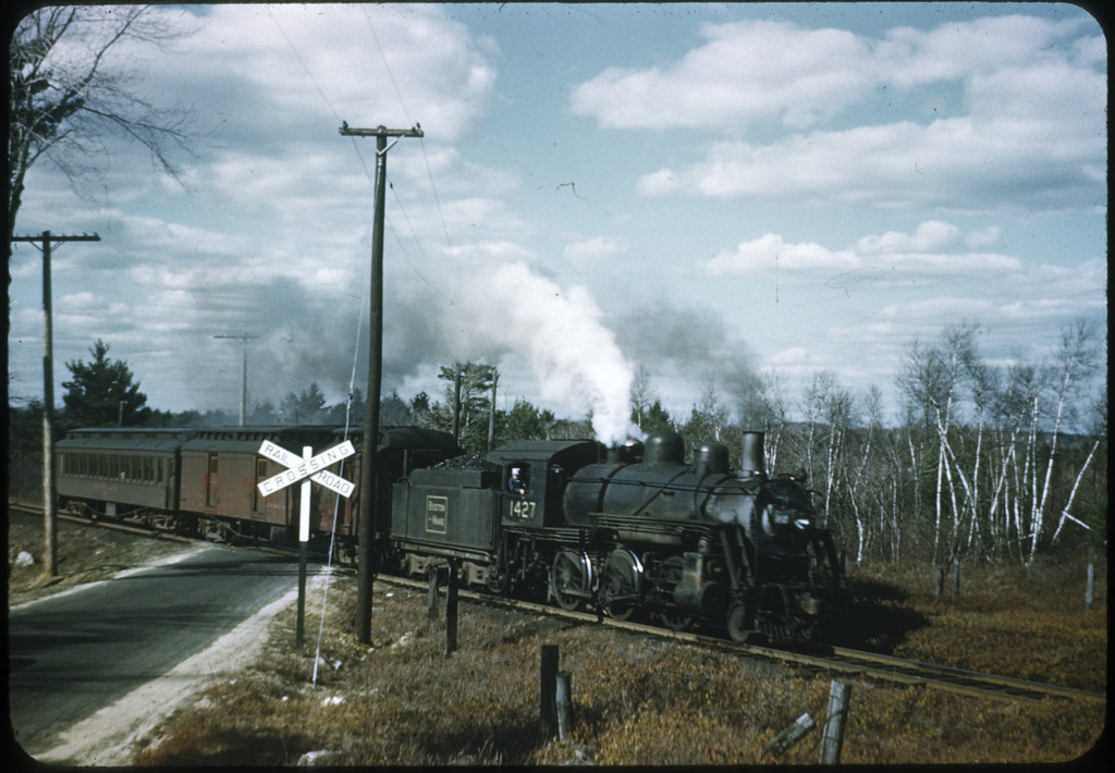 Boston & Maine RR #1427 2-6-0 April 1949<br /> Peterboro Pass, NH