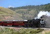 Cumbres and Toltec 488 wearing a special 40th Anniversary Celebration lettering, Osier, Colorado.