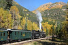 Rio Grande 473 in the fall colors at Needleton, Colorado.