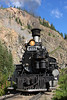 Durango and Silverton 473, south of Silverton, Colorado.