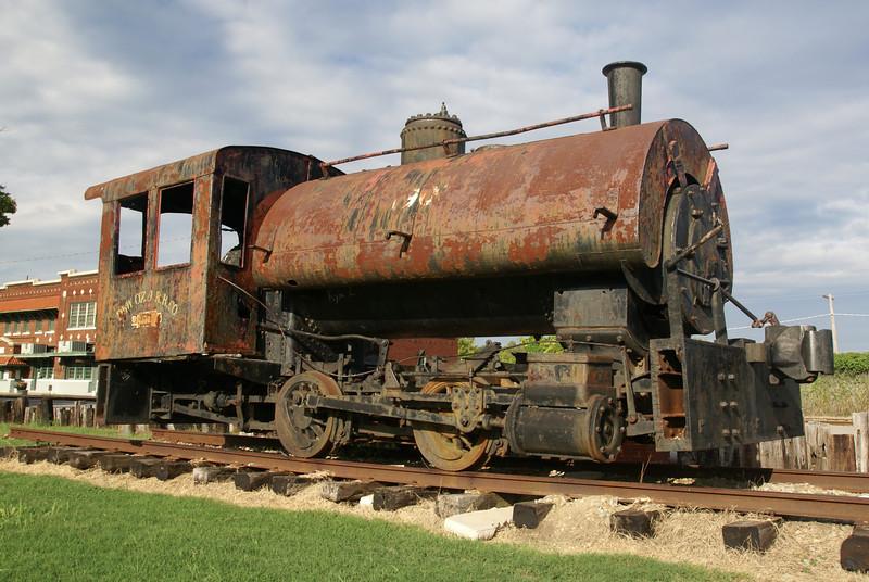 Davenport steam engine in Hugo, OK.  Used for the logging industry in Eastern Oklahoma.