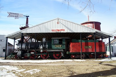 CB&Q #967 on display in Minden, NE