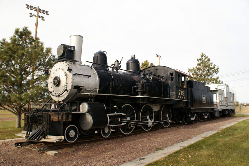 Alliance, NE.  This engine ran between Cheyenne and Sterling in its final years before being donated to the city of Alliance.