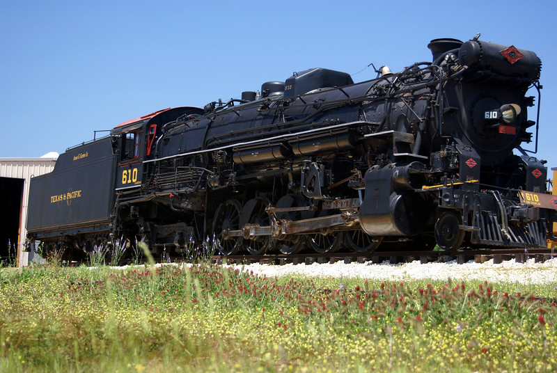 """The 610 is a 2-10-4 Lima locomotive built in 1927. It is the last """"Texas"""" class engine from the Texas & Pacific Railroad."""