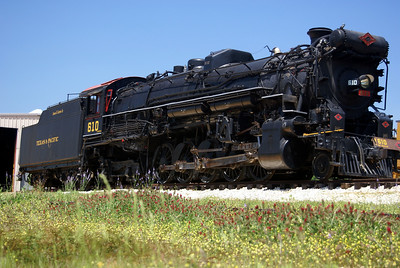 "The 610 is a 2-10-4 Lima locomotive built in 1927.  It is the last ""Texas"" class engine from the Texas & Pacific Railroad."