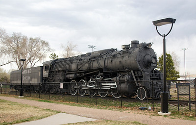 ATSF 5030 on display in Santa Fe, NM