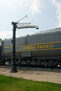 Union Pacific #3977 on display in North Platte, NE