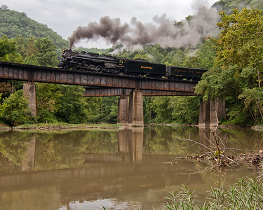 NKP 765 Charging into West Virginia