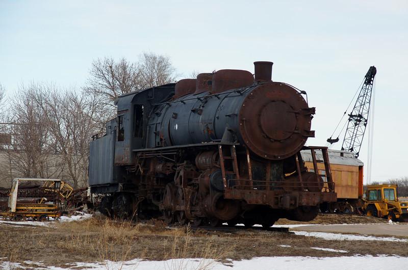 Grand Trunk & Western #8374 on display outside of Geneva, NE.