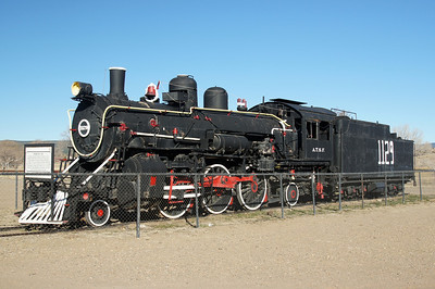 ATSF steam engine # 1129 in Las Vegas, NM