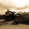 Former N&W 475 takes on coal at the Strasburg Railroad in preparation for a day's work.