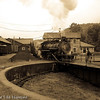 Dumping the ashes on East Broad Top 2-8-2 #15 at Rockhill Furnace, PA.