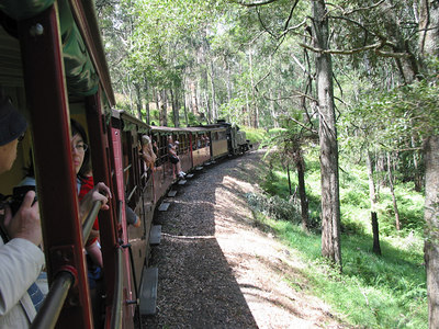 Puffing Billy Railway, Melbourne, February 2005.