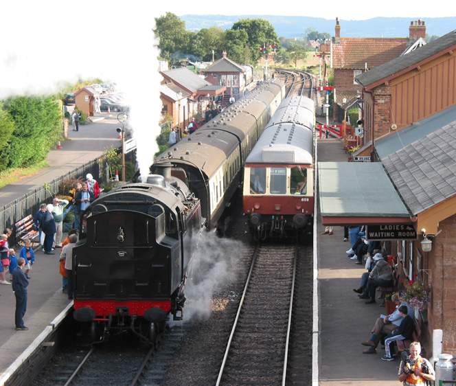 West Somerset Railway, Bishops Lydeard, Spring Steam Gala, 2002.