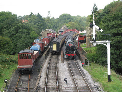 North Yorshire Moors Railway, Goathland, 2003.