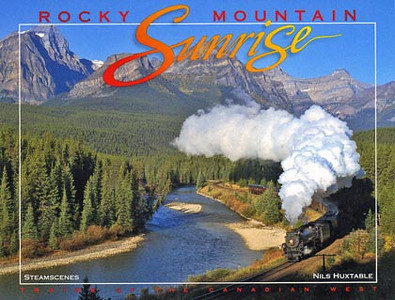 Rocky Mountain Sunrise A celebration of railroading in the Canadian West. Beginning at Morant's Curve, one of the best known photo locations in Canada, Rocky Mountain Sunrise takes you on a spectacular journey through Alberta & British Columbia. This 112-page album features the Fraser & Thompson Canyons, Rogers & Kicking Horse Passes, the Kootenay Central, the Crowsnest, Tumbler Ridge, the Kettle Valley & of course, the Yellowhead Route, the Laggan Sub & other favourites. Included are such famous passenger trains as The Canadian, the Super Continental, the Royal Canadian Pacific, the Cariboo Prospector, the E&N's Dayliner, the Rocky Mountaineer and the American-Orient Express, as well as freight operations of the CPR, CNR, BC Rail, Southern Railways of B.C., and Alberta RailNet. If you like trains in scenic settings, you'll treasure Rocky Mountain Sunrise. 112 pages - Size 230mm x 300mm - Hard Cover - Full Colour - $49.95+Shipping