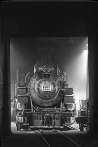 Engine 486 sits in the roundhouse at Durango Colorado.