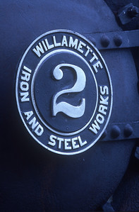 To state the obvious: Number plate for MRSR Willamette #2 .