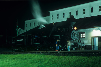 Another photo of the night shoot at the Cass depot