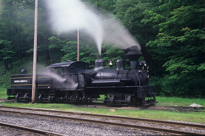 Old-timer #5 steams up for a day on the rails.