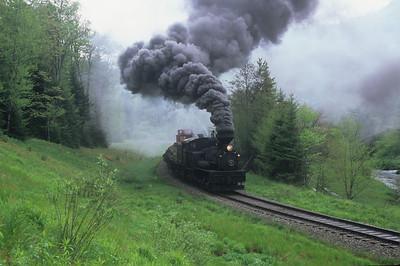 #5 with a work/log train