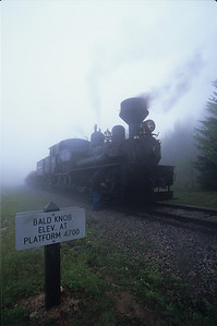 Bald knob in the fog