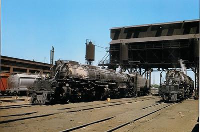 Big Boys at the Cheyenne Coal dock.