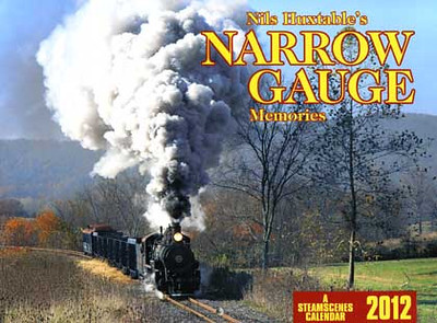 The 2012 calendar features a wide variety of North & South American narrow gauge steam subjects plus cameo images from Indonesia, Germany, Sweden & the Philippines. Sumpter Valley Ry 2-8-2 No. 17, a 'Sport model' K-28 approaching Shaloma Lake, an OK 'Luttermoller' 0-10-0T in Java, a Mal Tiempo 2-8-0, WP&Y 2-8-2 No. 73, an Esquel branch doubleheader, a Waldeisenbahn Muskau 0-8-0T, a Porter 2-6-2 in Brazil, a Swedish 891mm 2-8-0, an EBT 2-8-2, a3-ft gauge Baldwin in the Philippines & a rotary plow on the C&TS RR..