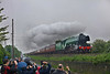 Despite the dreadful weather the crowds still turned out to witness The Flying Scotsman this time working a Cleethorpes to Morpeth charter seen between Bedlington & Choppington on the B&T route.<br /> 11/6/2016