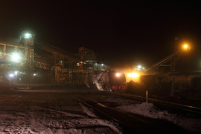 A night photo in the Hwange colliery.
