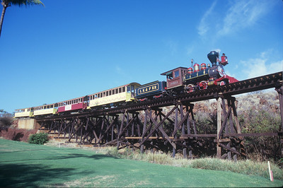 Crossing the Hahakea 325-foot wooden trestle.