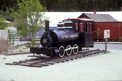 The Duchess, a 30-inch gauge 0-6-0T, has been sitting in Carcross for over 80 years.