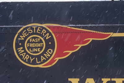 "Western Maryland ""Fireball"" logo appears on the tender of 734."