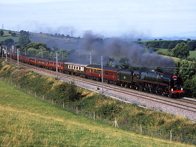 "71000 ""Duke of Gloucester"" hauls a Crewe-Appleby charter at Lambrigg 3/9/05."