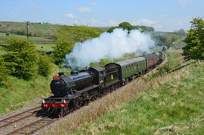 """A rather hurried shot of 61994 """"The Great Marquess"""" and 60009 """"Union of South Africa"""" en route from York NRM-Carnforth at Armistead 26/5/13."""
