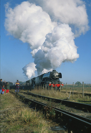 A triple-header at Toddington with 4472 'Flying Scotsman' up front. 17/10/93