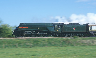 60009 'Union of South Africa' passes Washstones crossing near Melton Mowbray. 10/5/03
