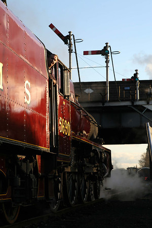 5690 'Leander' is a visitor at Loughborough, Great Central Railway.
