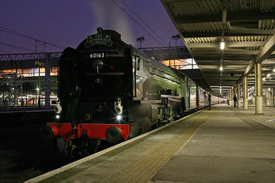 60163 'Tornado' with a Cathedrals Express ready to leave Euston for the north. 11/12/10