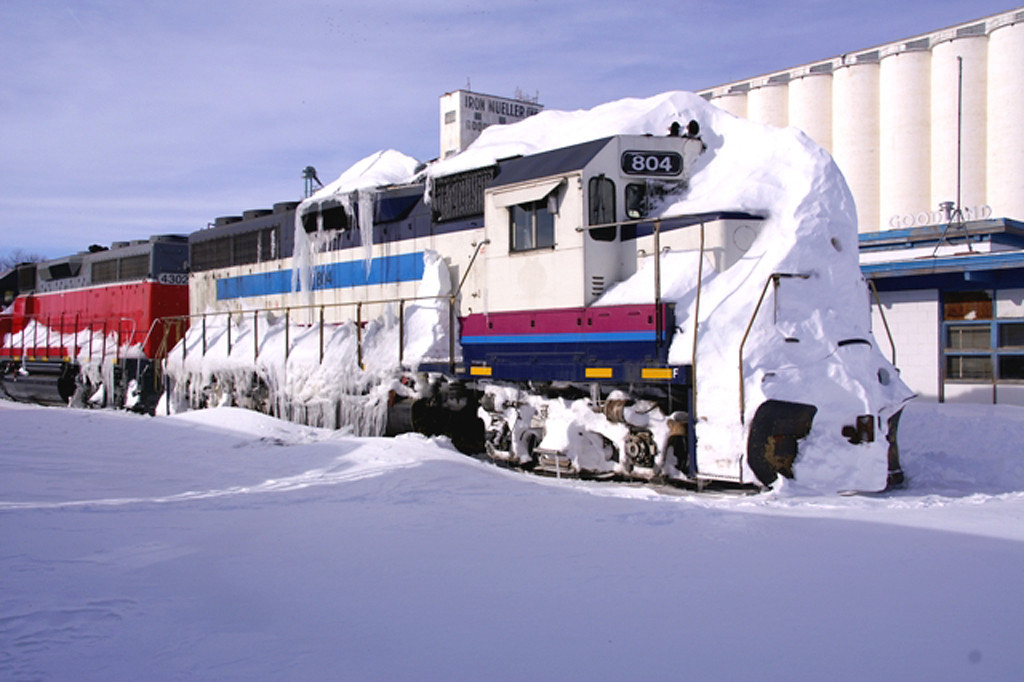 Kyle Railways Unit after a winter storm in Goodland, KS