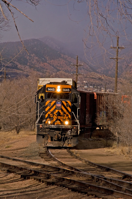 UP's Colorado Springs local is switching the former Rock Island with an ex-Rio Grande GP40-2.