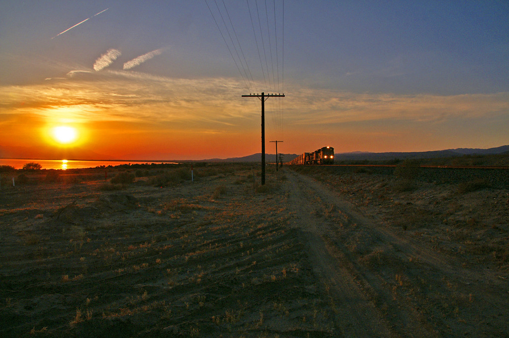 Sunset at the Salton Sea.