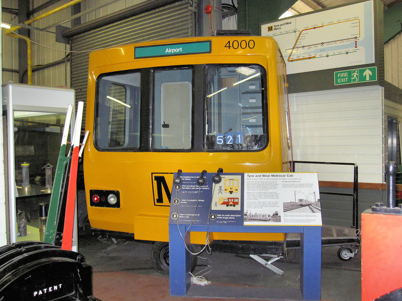 4000 Tyne & Wear Metro, Cab Only - Stephenson Railway Museum  27.06.10  Kev Adlam