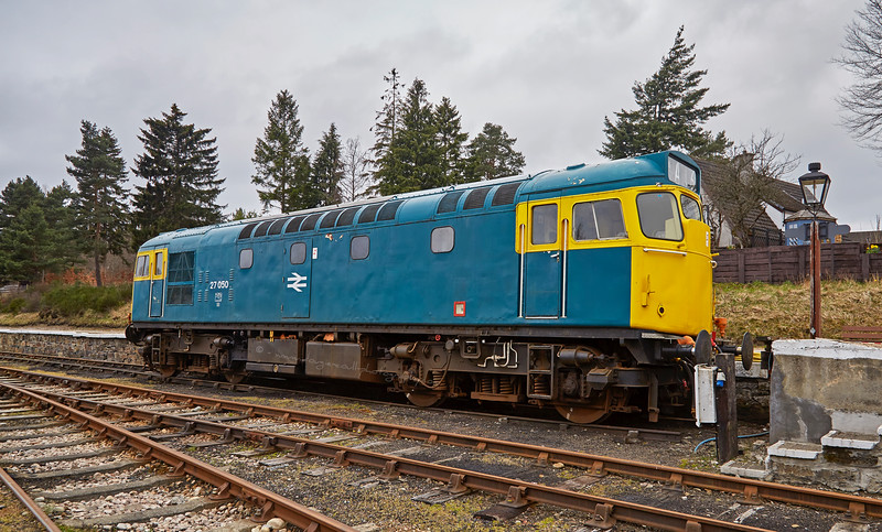 Class 27 Diesel/Electric Locomotive (27050) at Boat of Garten - 12 April 2016