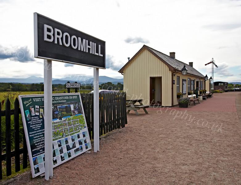Strathspey Railway - Broomhill (Glenbogle) Station - 12 August 2012