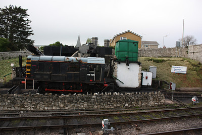 No detail was missed as even the steam depot got NSE signage as 08436 rests by the turntable 8/5/14