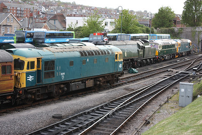 One of each sub class....33202, 33012 & 33111 Swanage 7/5/14