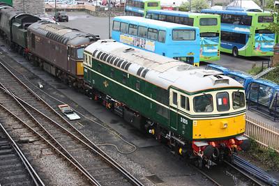 A future mainline railtour duo?? 33012 & 33029 Swanage 8/5/14